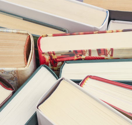 Close up picture of books